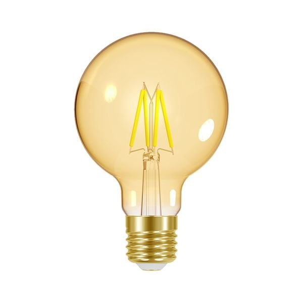 lampada led dimerizavel taschibra filamento vintage globo g80 1