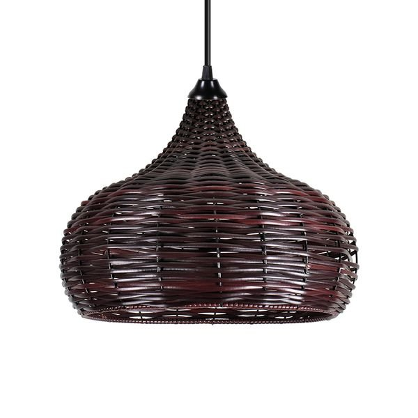lustre pendente primor junco camel grande chocolate e27 bivolt 1