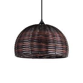 lustre pendente primor junco esfera media chocolate e27 bivolt 1