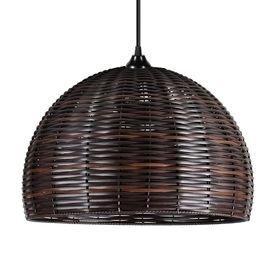 lustre pendente primor junco esfera grande chocolate e27 bivolt 1