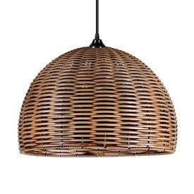 lustre pendente primor junco esfera grande betume e27 bivolt 1