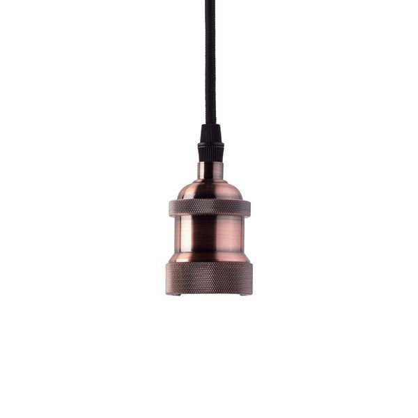 lustre pendente taschibra dot metal decor cobre 1