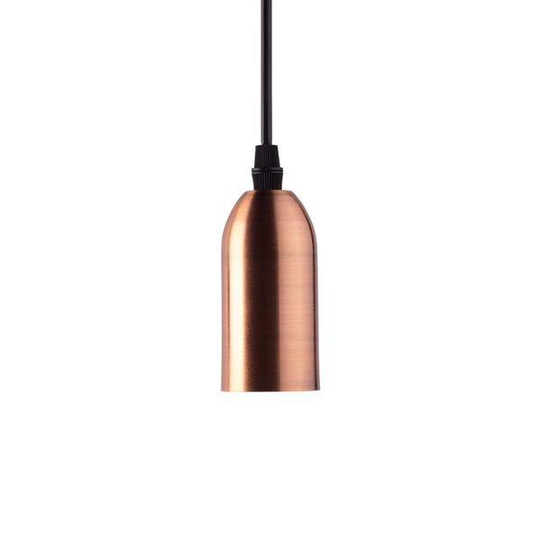 lustre pendente taschibra dot metal longo cobre 1