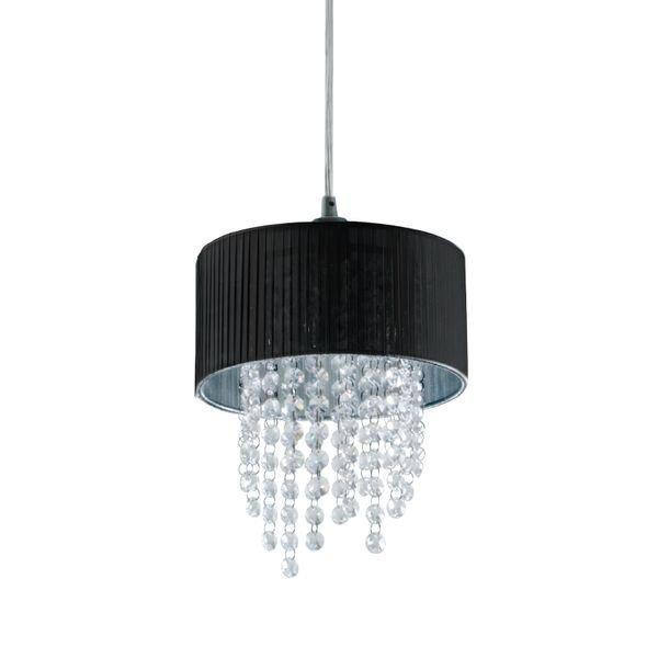 lustre pendente startec mini diamond e27 bivolt preta 1