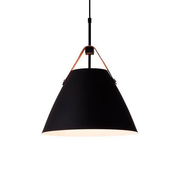 lustre pendente startec rpx couro e27 bivolt preto 1