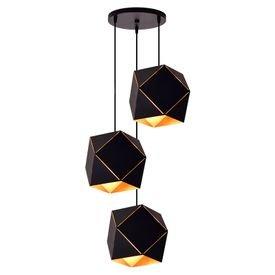 lustre pendente startec rpx faces 3 preto e27 bivolt 1
