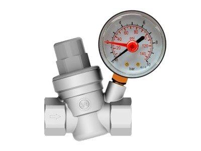 valvula redutora de pressao com manometro integrado censi 1
