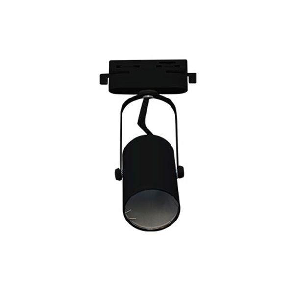 spot direcionavel para trilho energizado preto gu10 bivolt
