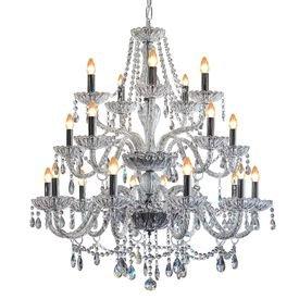 lustre pendente llum classico 20 bracos transparente e14 bivolt 1