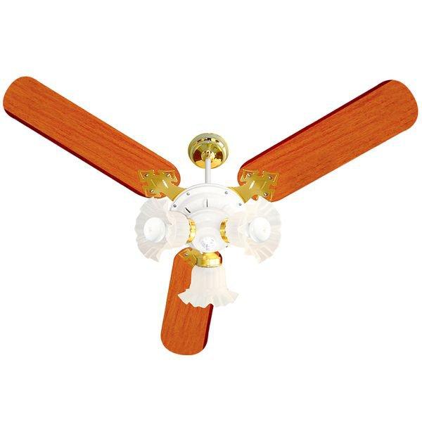 ventilador de teto venti delta new zeta com 3 pas mogno branco