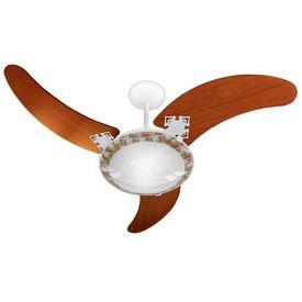 ventilador de teto venti delta delta ventus com 3 pas mogno branco