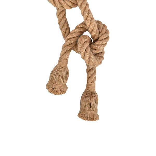 lustre pendente corda para 2 lampadas e27 bivolt 1