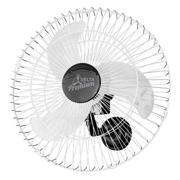ventilador de parede venti delta premium 60cm preto cromado bivolt