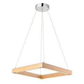 lustre pendente avant kavas quadrado em madeira com led bivolt 1