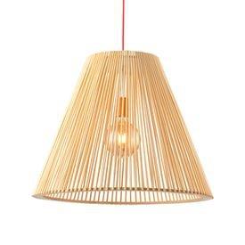 lustre pendente avant oka cone grande em madeira e27 bivolt 1
