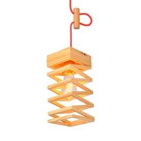 lustre pendente avant oka twister em madeira e27 bivolt 1