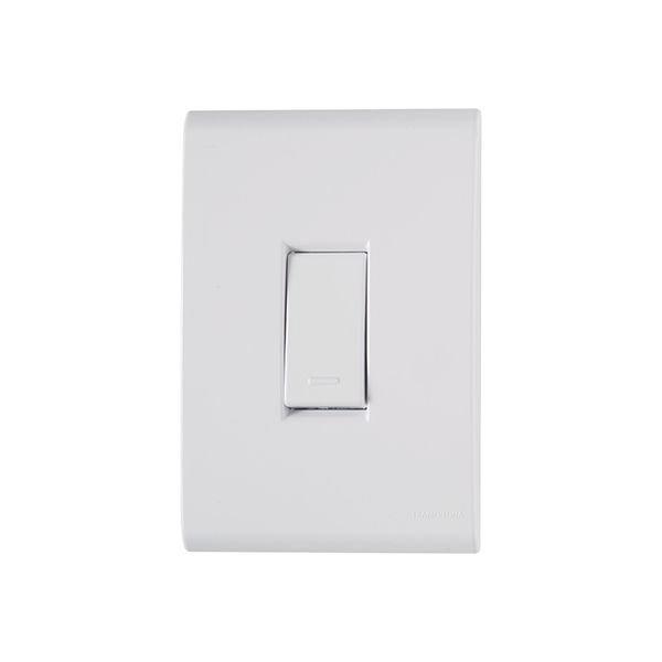 interruptor simples tramontina linha liz com placa 4x2 branco