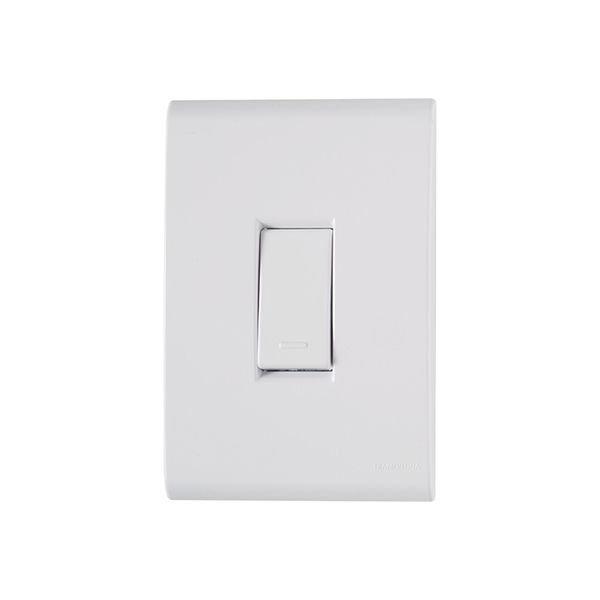 interruptor paralelo tramontina linha liz com placa 4x2 branco