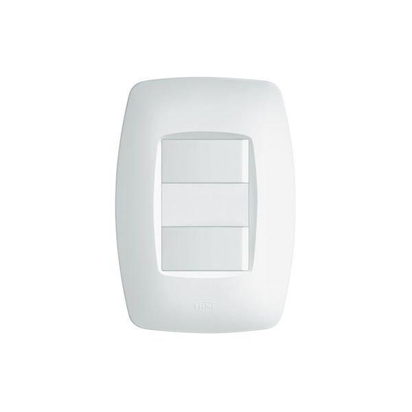 interruptor simples duplo fame elegance com placa 4x2 branco