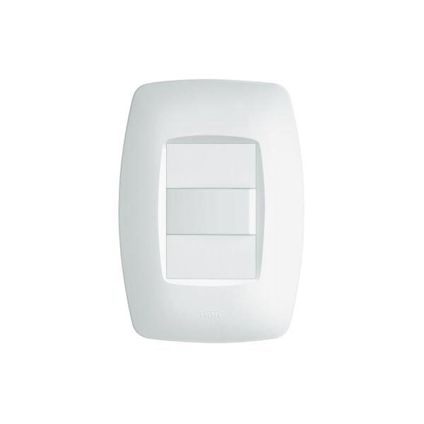 interruptor simples fame elegance com placa 4x2 branco