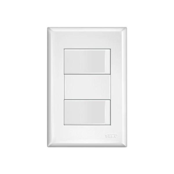 interruptor simples duplo fame evidence com placa 4x2 branco