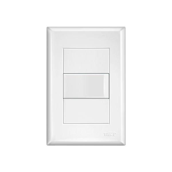 interruptor simples fame evidence com placa 4x2 branco