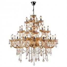 lustre pendente nice 28 bracos champagne startec 1