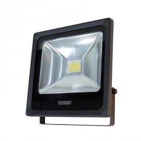 refletor led taschibra tr 50 50w preto 3000k luz amarela bivolt