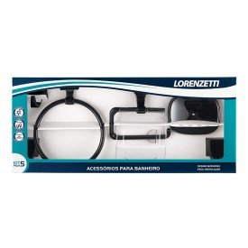 kit de acessorios lorenzetti 2000 f24 linha attic quadra com 5 pecas preto 8