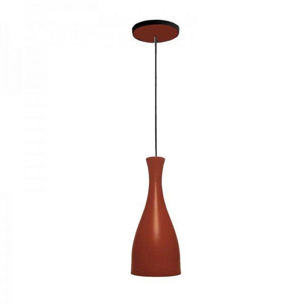 lustre pendente taschibra td 1003 marrom fosco e27 bivolt 1