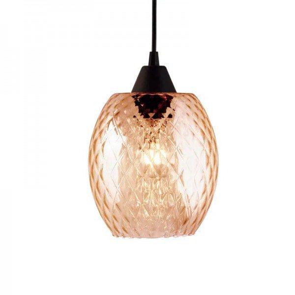 lustre pendente taschibra badih p e27 bivolt vidro boreal conhaque 1