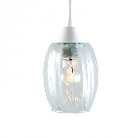 lustre pendente taschibra badih p e27 bivolt vidro canelado transparente 1
