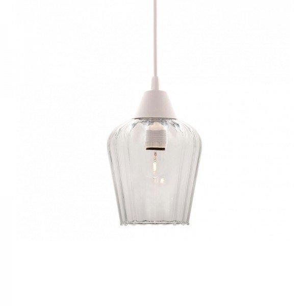 lustre pendente taschibra layla pp e27 bivolt vidro canelado transparente 1