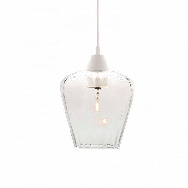 lustre pendente taschibra layla p e27 bivolt vidro canelado transparente 1
