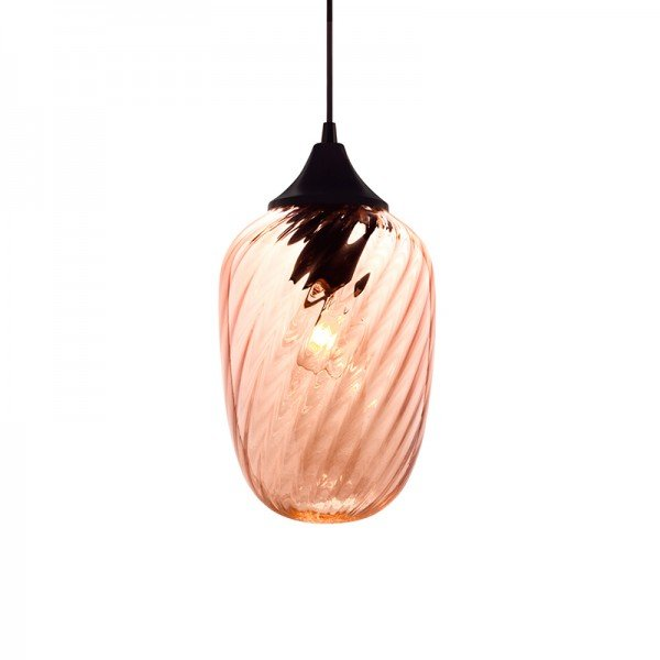lustre pendente taschibra marrakesh rigato conhaque e27 bivolt 1