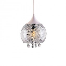 lustre pendente taschibra elisabeth rigato transparente e27 bivolt 1