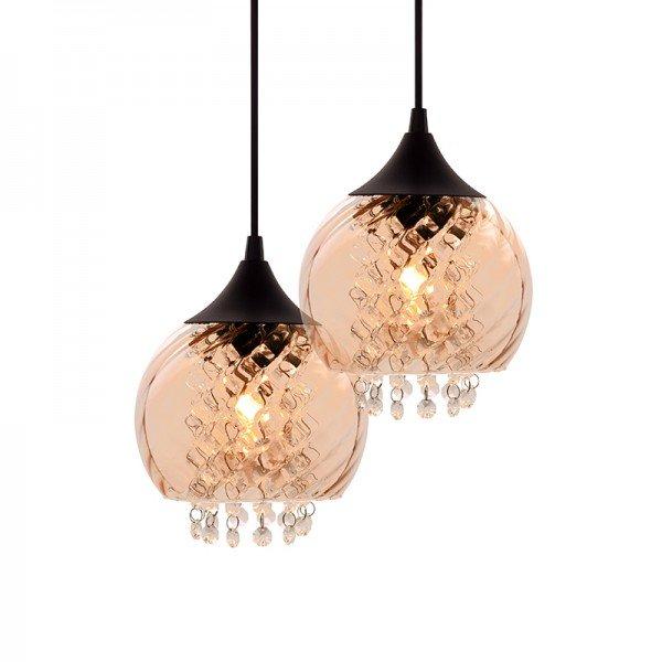 lustre pendente taschibra elisabeth 2 rigato conhaque e27 bivolt 1