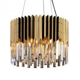 lustre pendente startec baluarte redondo dourado g9 bivolt 1