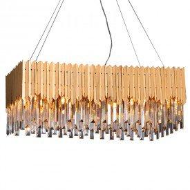 lustre pendente startec baluarte retangular dourado g9 bivolt 1