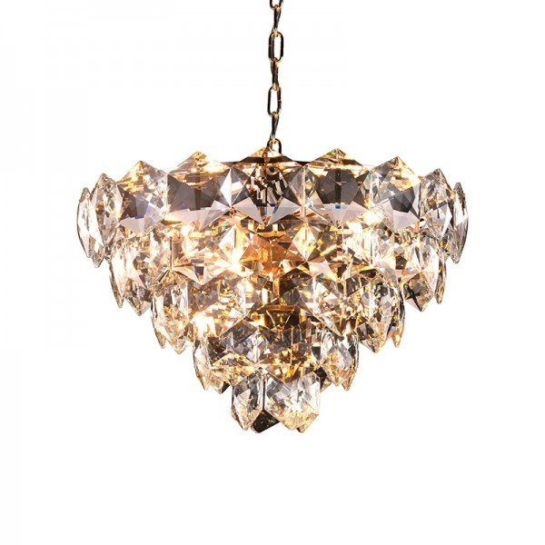 lustre pendente startec cristalle 55cm transparente g9 bivolt 1