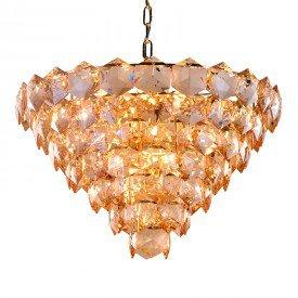 lustre pendente startec cristalle 80cm champagne g9 bivolt 1