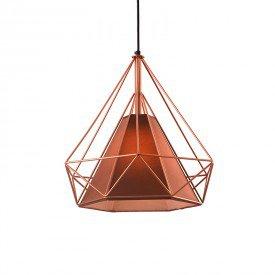 lustre pendente startec piramidal 25cm e27 bivolt cobre e cafe 1
