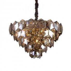 lustre pendente startec cristalle 55cm fume g9 bivolt 1