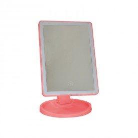 luminaria de led dimerizavel com espelho bivolt rosa