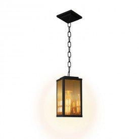 lustre pendente blumenau vintage chain 25cm e27 bivolt preto