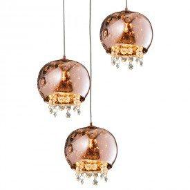 lustre pendente quality dublin 1280 g9 bivolt cobre 1