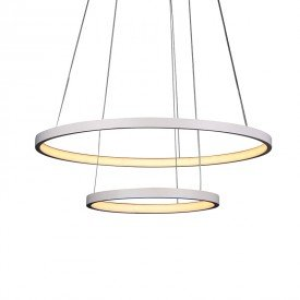 lustre pendente quality montreal 1301 led bivolt branco 1