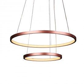 lustre pendente quality montreal 1301 led bivolt cobre 1
