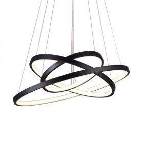 lustre pendente quality montreal 1303 led bivolt preto 1