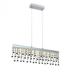 lustre pendente quality munique 1277 led bivolt cromado 1